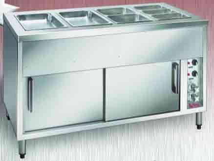 Bain Marie Hot Cupboard - 2 Module with Wet Tank