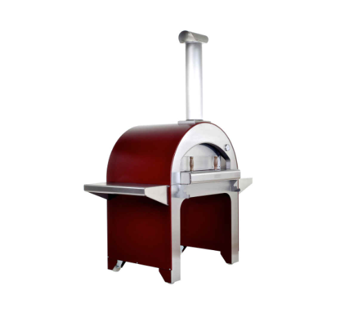 Alfa 4 Pizze Oven with Base Red