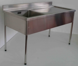 Single Bowl Sink Bench LH 900x1500x600 - Click for more info