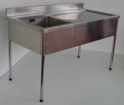 Single Bowl Sink Bench RH 900x1500x750 - Click for more info