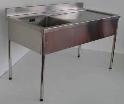 Single Bowl Sink Bench RH 900x1500x750