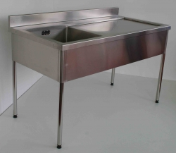 Single Bowl Sink Bench RH 900x1800x600