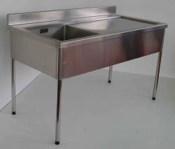 Single Bowl Sink Bench RH 900x1800x750