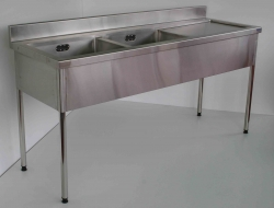 Double Bowl Sink Bench LH 900x1800x600