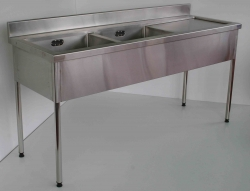 Double Bowl Sink Bench LH 900x1800x750
