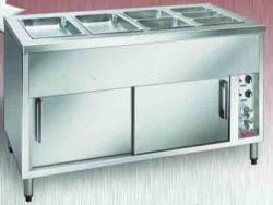 Bain Marie Hot Cupboard - 4 Module with Wet Tank