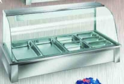 Hot Food Bar - 7 Module (Curved Glass Panel)