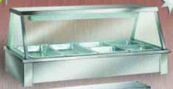 Hot Food Bar - 7 Module (Straight Glass Panel)