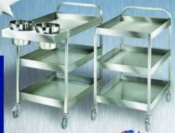 Service Trolley - Light Duty with Scrap Recptacle