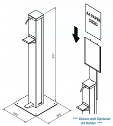 Optional Bollard A4 Holder - Click for more info